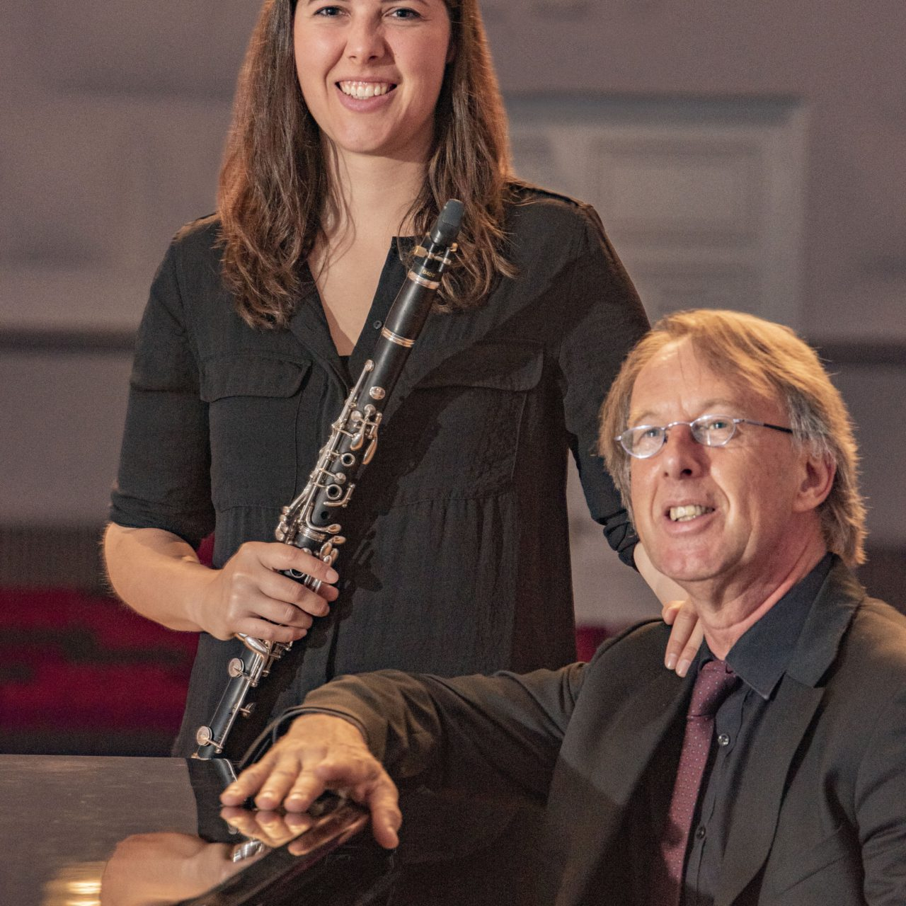 Rien Balkenende (piano) en Evelien de Vries (klarinet)