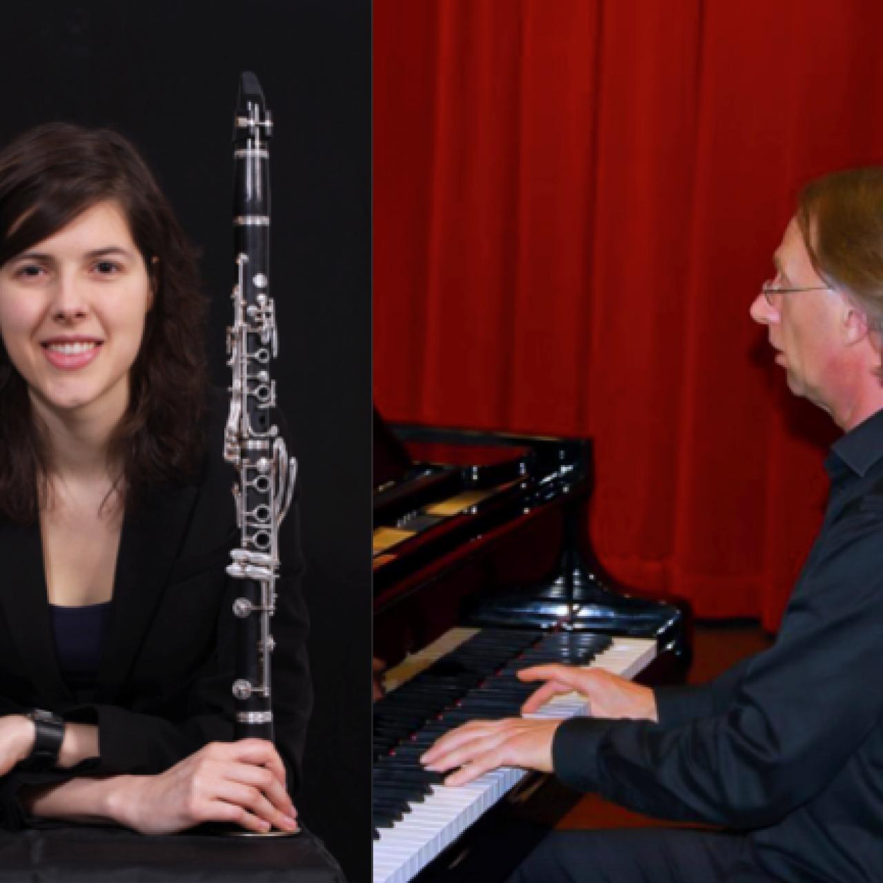 Rien Balkenende (Klavier) und Evelien de Vries (Klarinette)